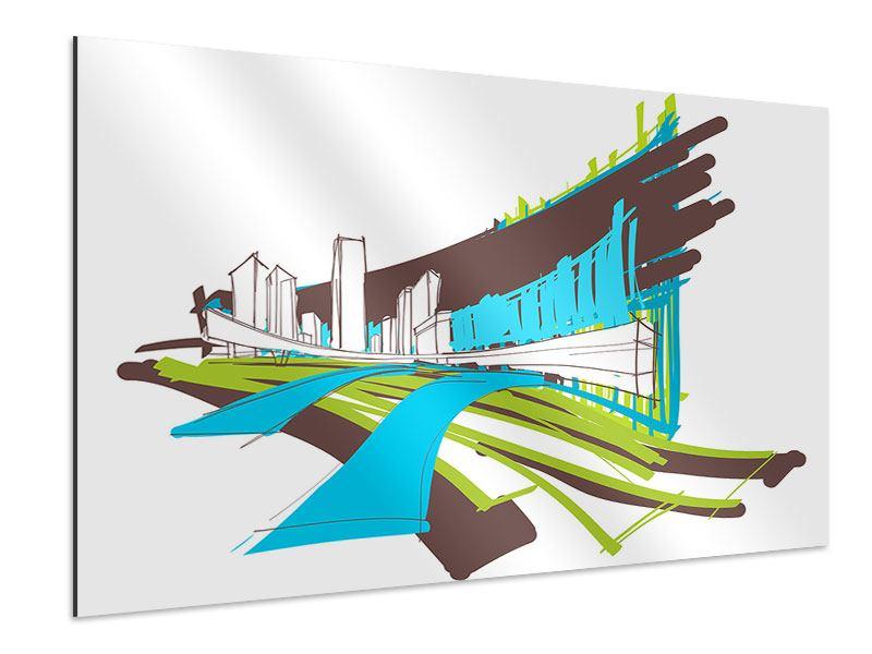 Aluminiumbild Graffiti Street-Art