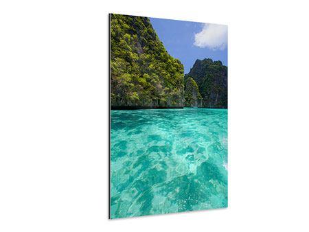 Aluminiumbild Das Kliff und das Meer