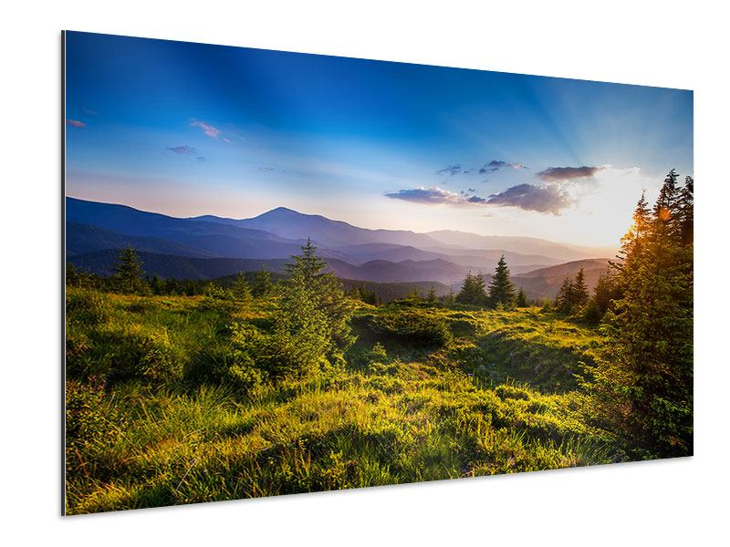 Aluminiumbild Friedliche Landschaft