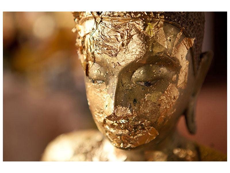 Aluminiumbild Kopf eines Buddhas