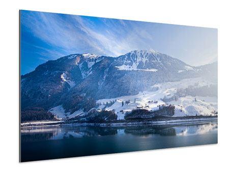 Aluminiumbild Winterwunderland