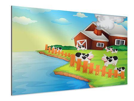 Aluminiumbild Eine Kuh macht Muh