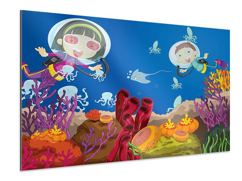 Aluminiumbild Fröhliche Fische