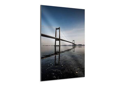 Aluminiumbild Moderne Brücke
