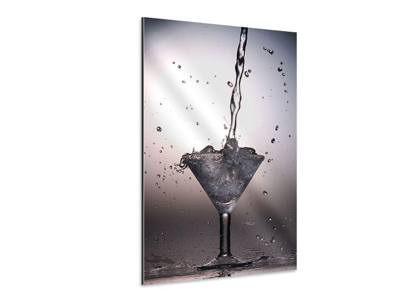 Aluminiumbild Spritziger Martini
