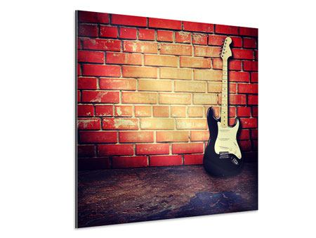 Aluminiumbild E-Gitarre