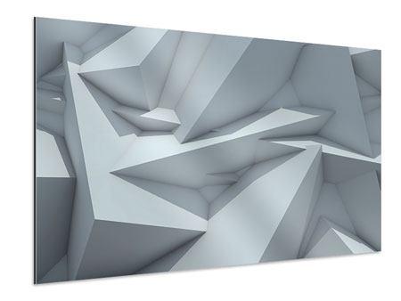 Aluminiumbild 3D-Kristallo