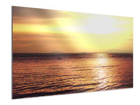 Aluminiumbild Sonnenuntergang an der See