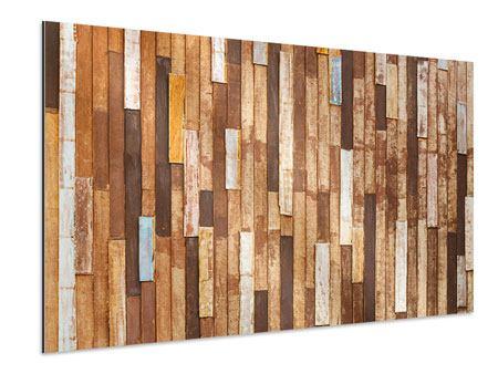 Aluminiumbild Designholz