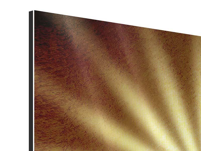 Aluminiumbild Abstrakte Sonnenstrahlen