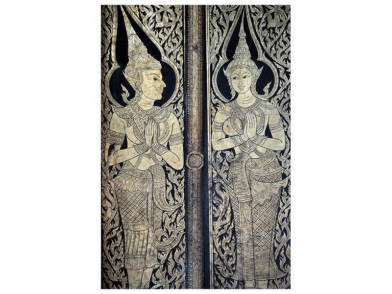 Aluminiumbild Tempeltür
