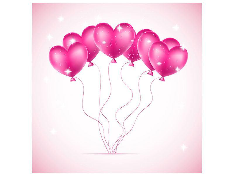 Aluminiumbild Herzballons