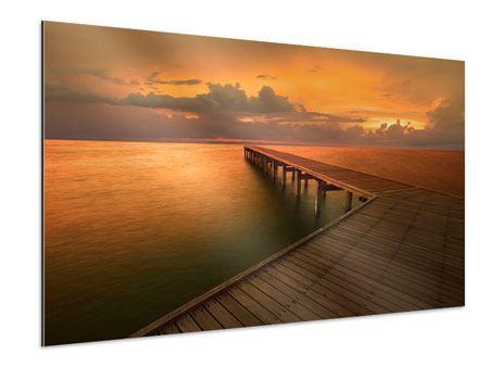 Aluminiumbild Der Steg am Meer