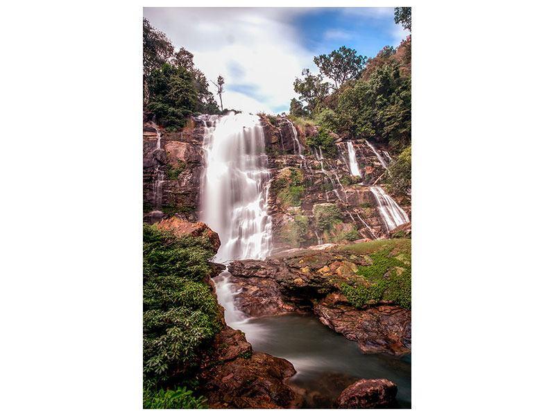 Aluminiumbild Wasserfall in Thailand