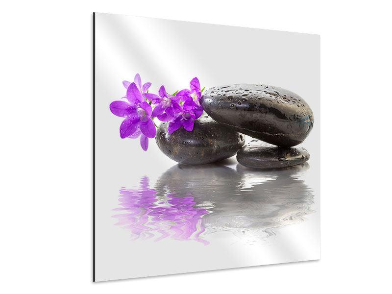 Aluminiumbild Feng Shui Steine