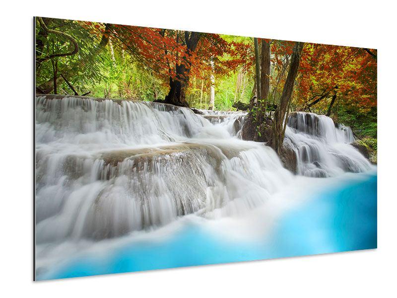 Aluminiumbild Erawan Wasserfall