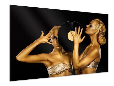 Aluminiumbild Gold-DJ`s