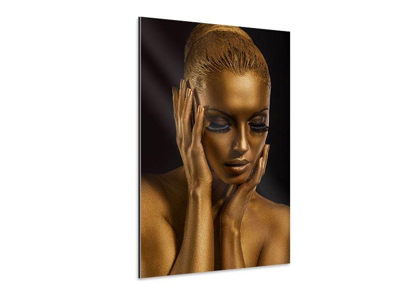 Aluminiumbild Gold-Face