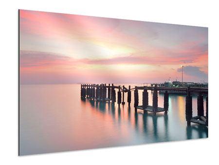 Aluminiumbild Der beruhigende Sonnenuntergang