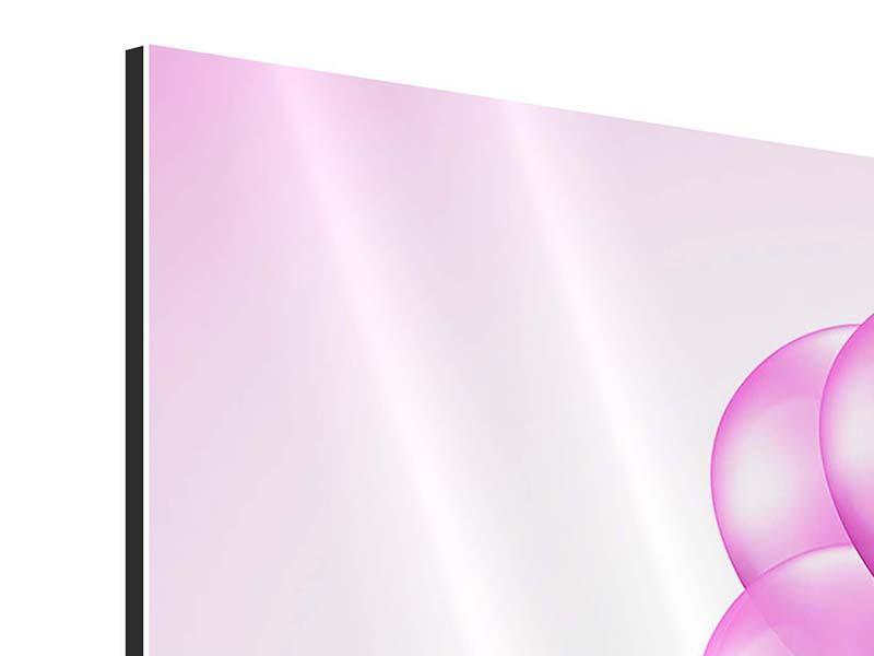 Aluminiumbild Rosarote Luftballons