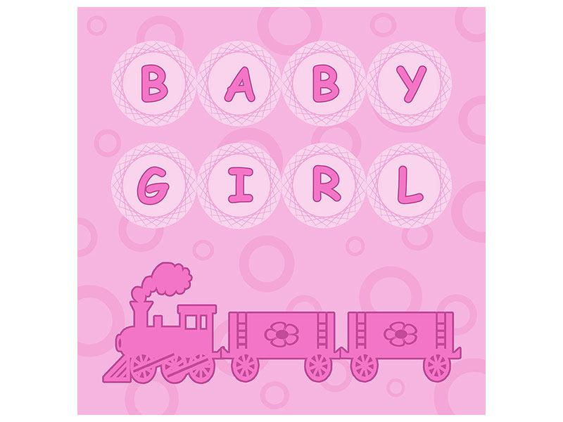 Aluminiumbild Baby-Girl
