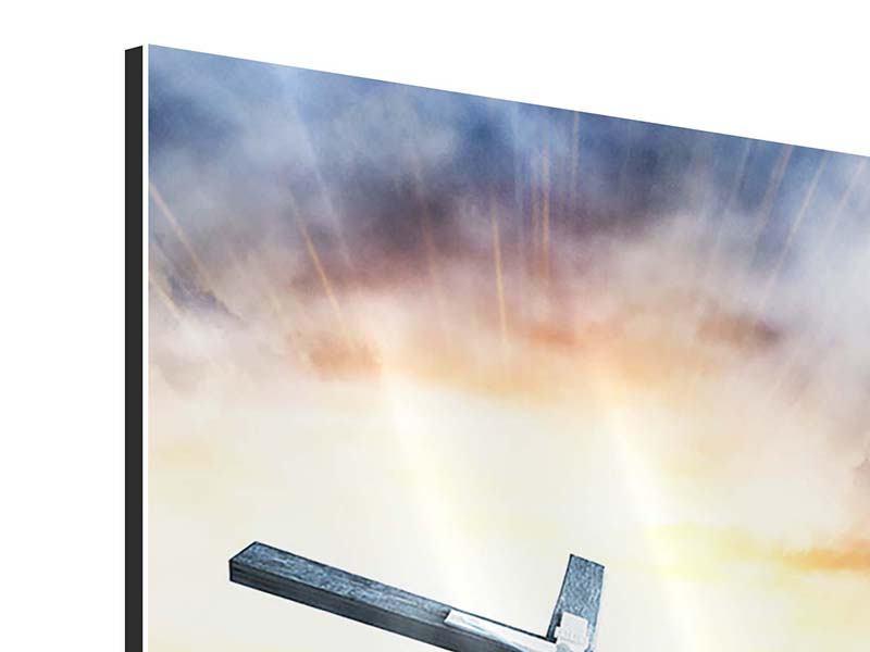 Aluminiumbild Jesus am Kreuz