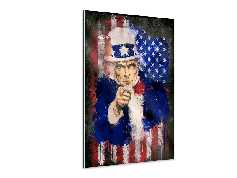 Aluminiumbild Uncle Sam