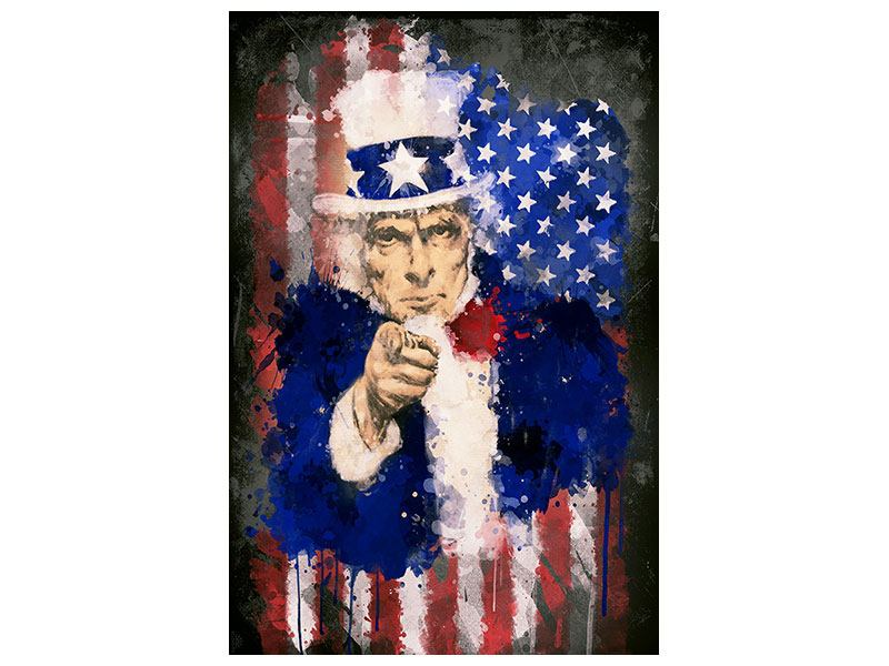 Aluminiumbild Uncle Sam