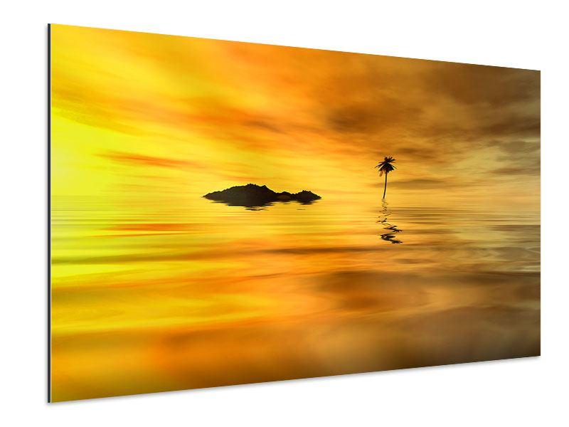 Aluminiumbild Ab auf die Insel
