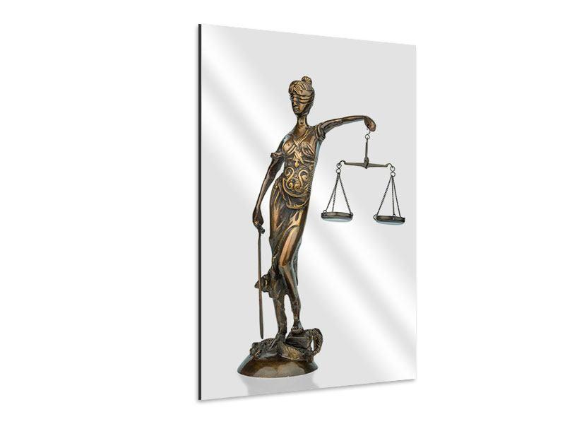 Aluminiumbild Justitia