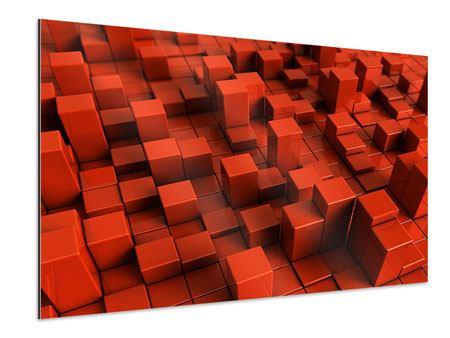 Aluminiumbild 3D-Rechtkant