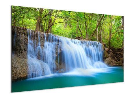 Aluminiumbild Wasserfall Si Nakharin