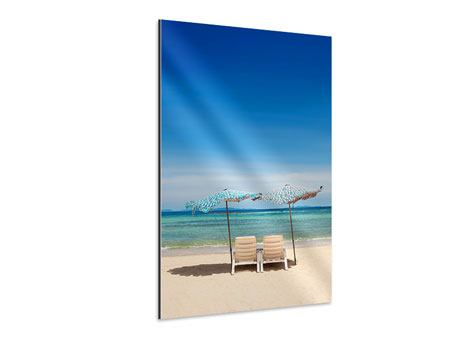 Aluminiumbild Ein Sonnenbad