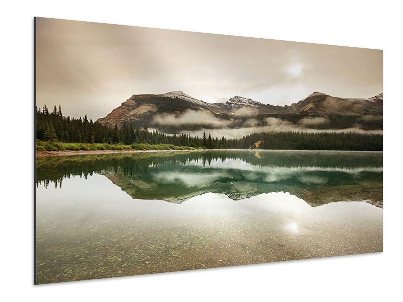 Aluminiumbild Spiegelung im Glacier Nationalpark
