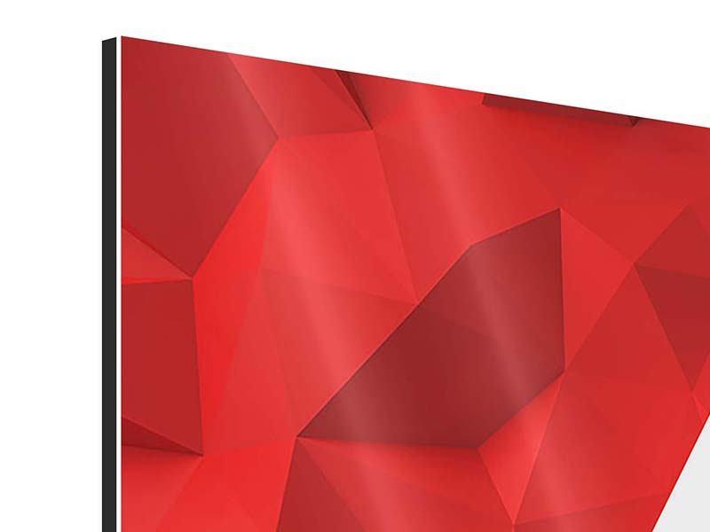 Aluminiumbild 3D-Stern