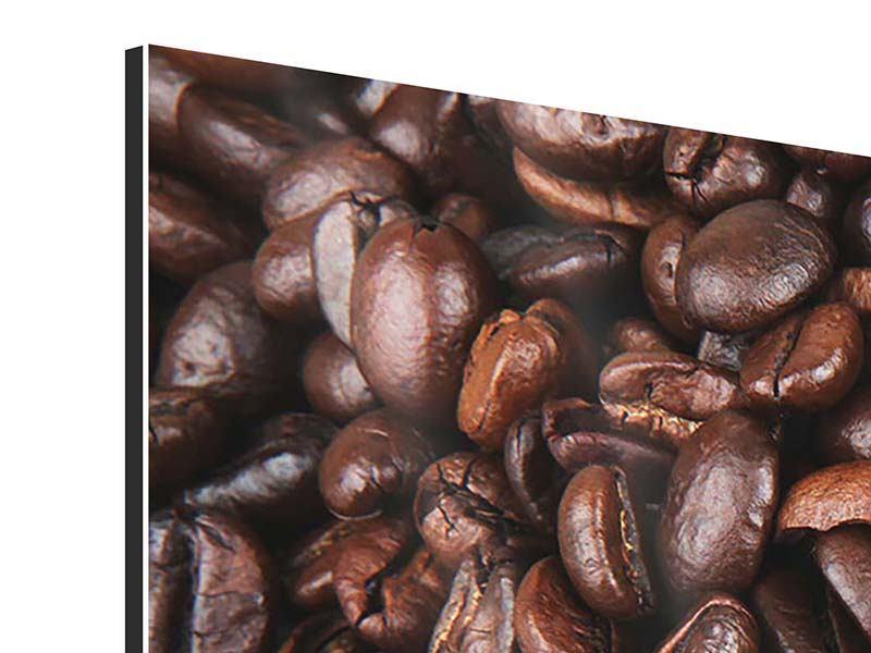 Aluminiumbild Kaffeebohnen in XXL