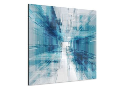Aluminiumbild Abstrakte Raumerweiterung