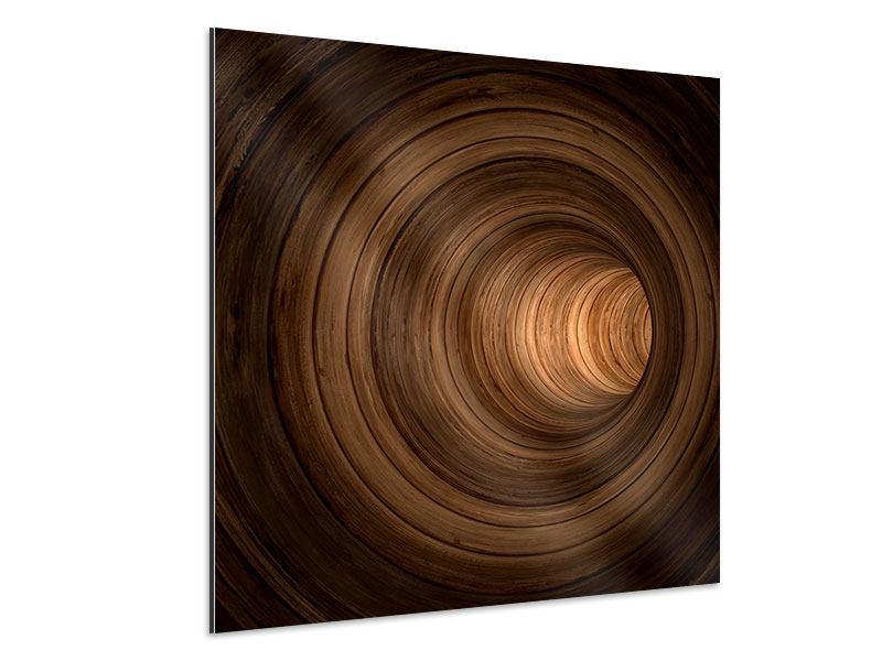 Aluminiumbild Abstrakter Tunnel