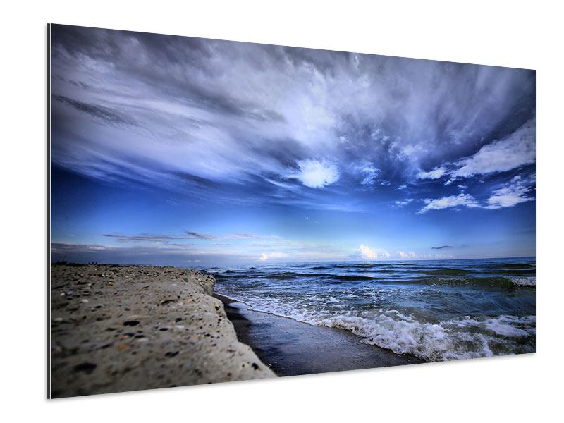 Aluminiumbild Strandwellen