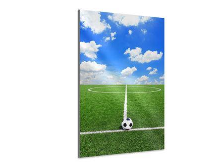 Aluminiumbild Fussballfeld