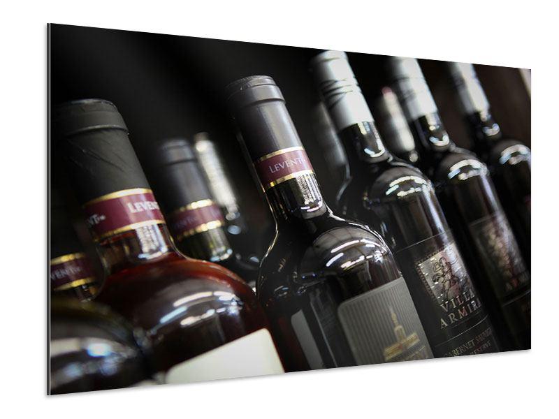 Aluminiumbild Flaschenweine