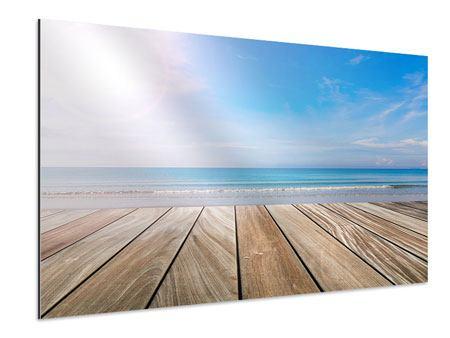 Aluminiumbild Das schöne Strandhaus