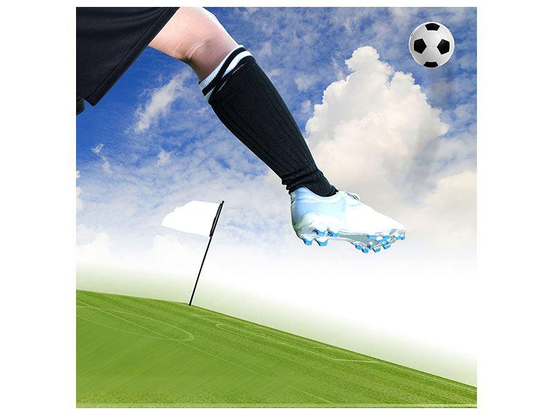 Aluminiumbild Fussball-Kicker
