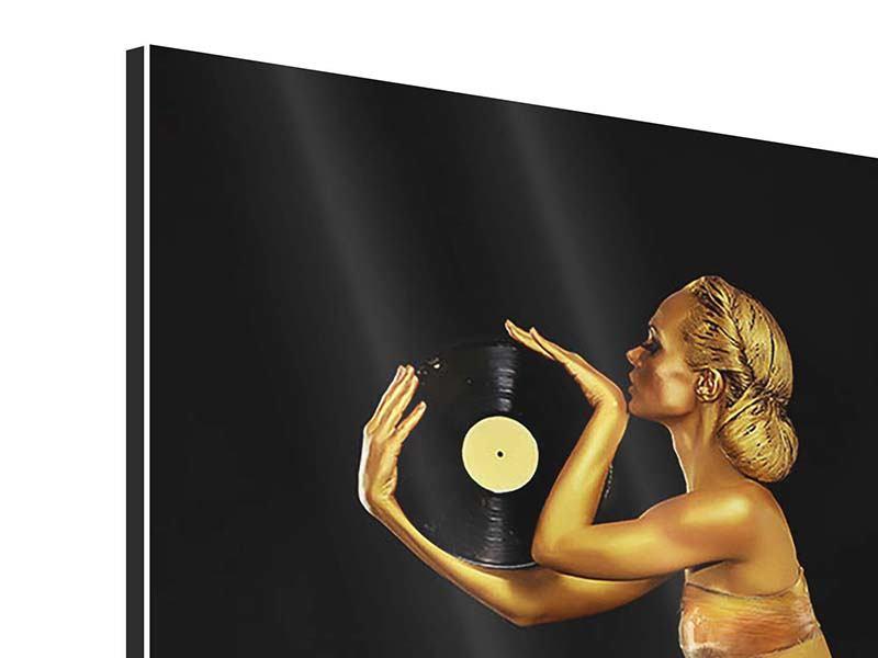 Aluminiumbild DJ Schönheit