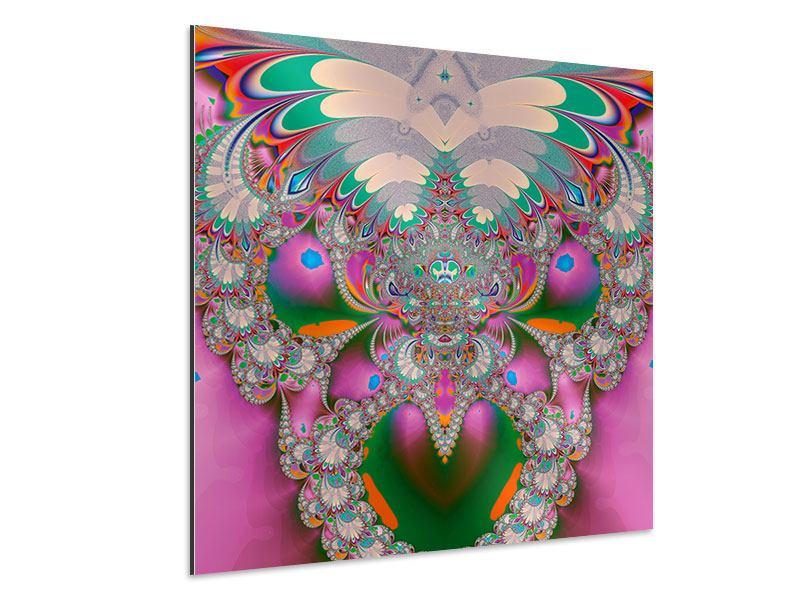 Aluminiumbild Fraktal Design
