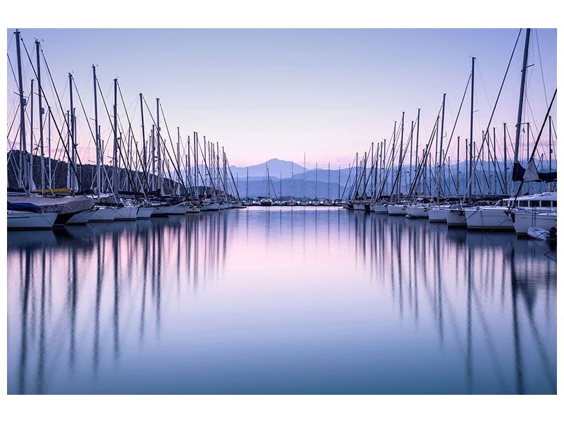 Aluminiumbild Yachthafen