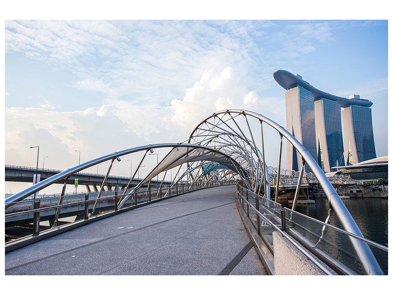 Aluminiumbild Helix-Brücke