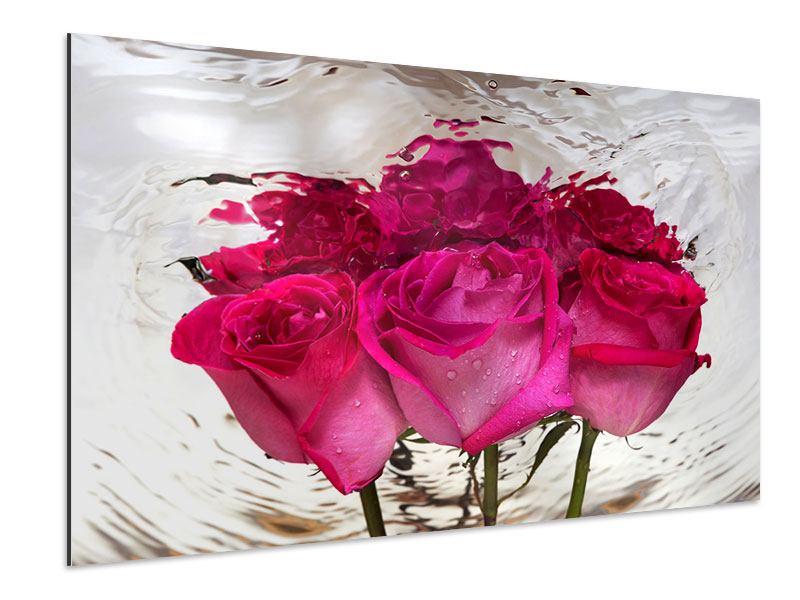 Aluminiumbild Die Rosenspiegelung