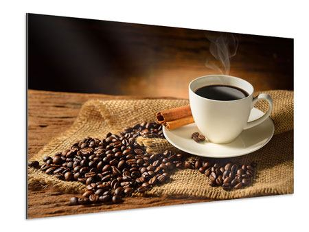 Aluminiumbild Kaffeepause