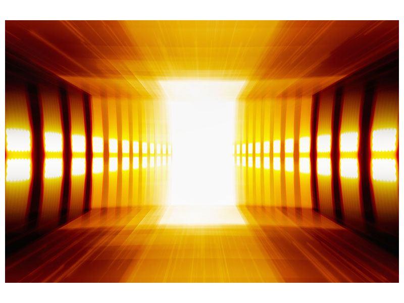 Aluminiumbild Abstrakter Goldener Raum